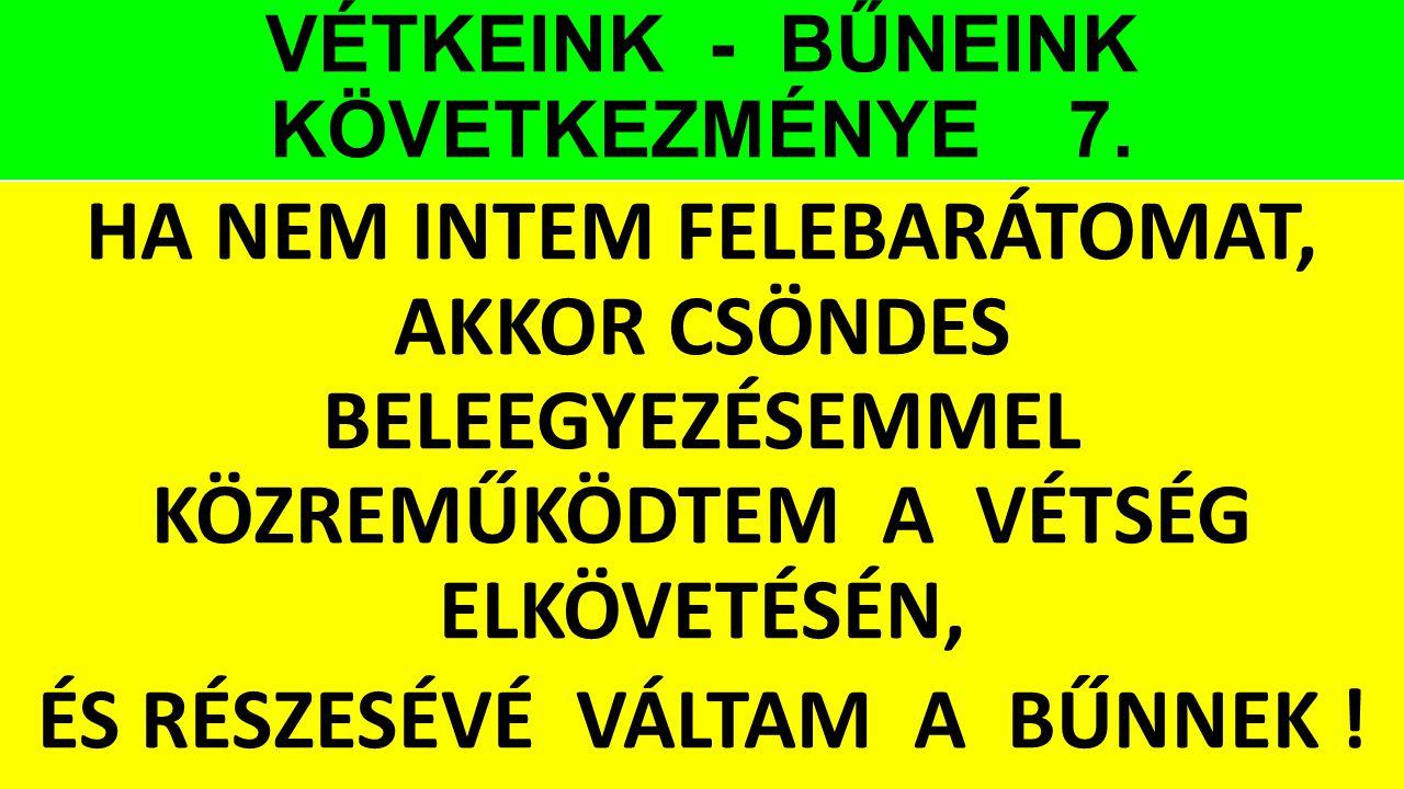 VÉTKEINK - BŰNEINK KÖVETKEZMÉNYE 7.