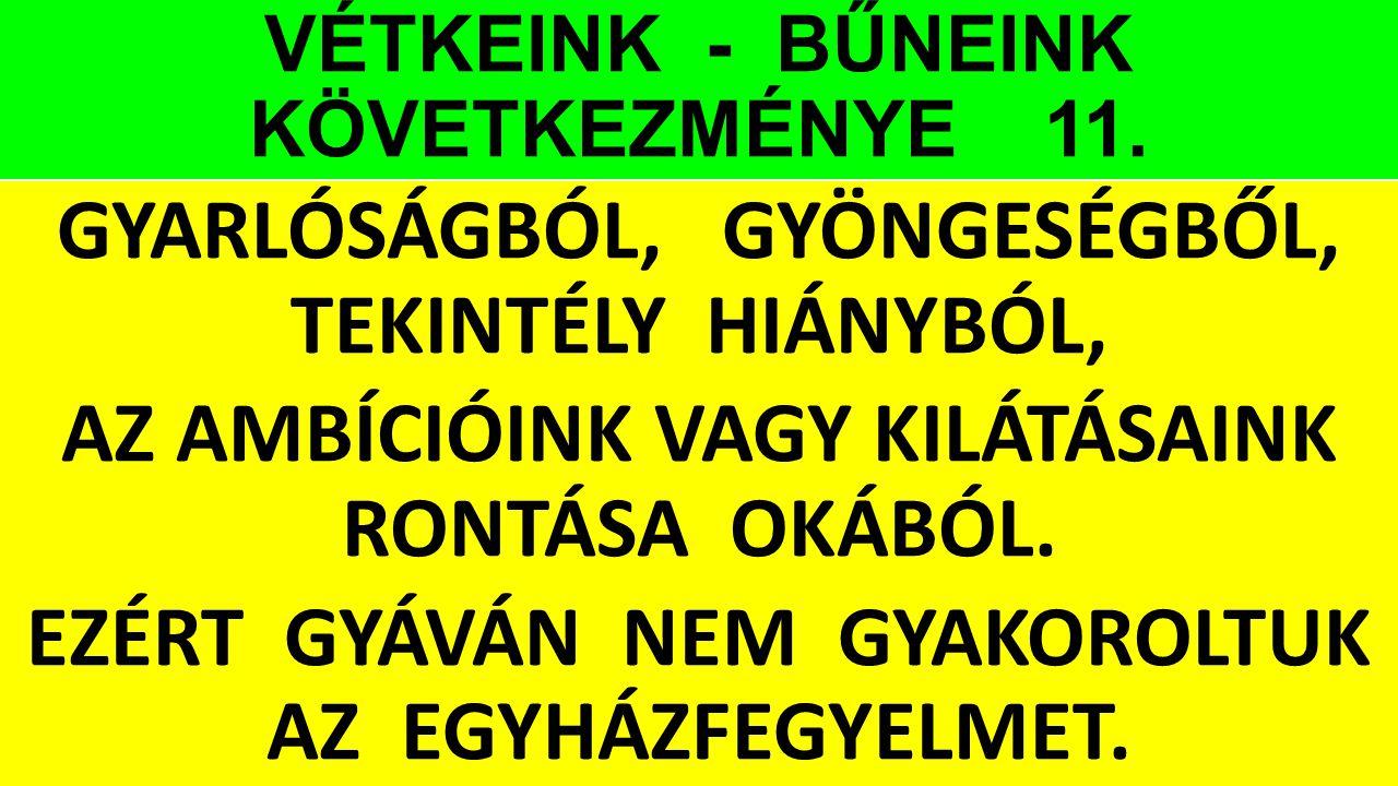 VÉTKEINK - BŰNEINK KÖVETKEZMÉNYE 11.