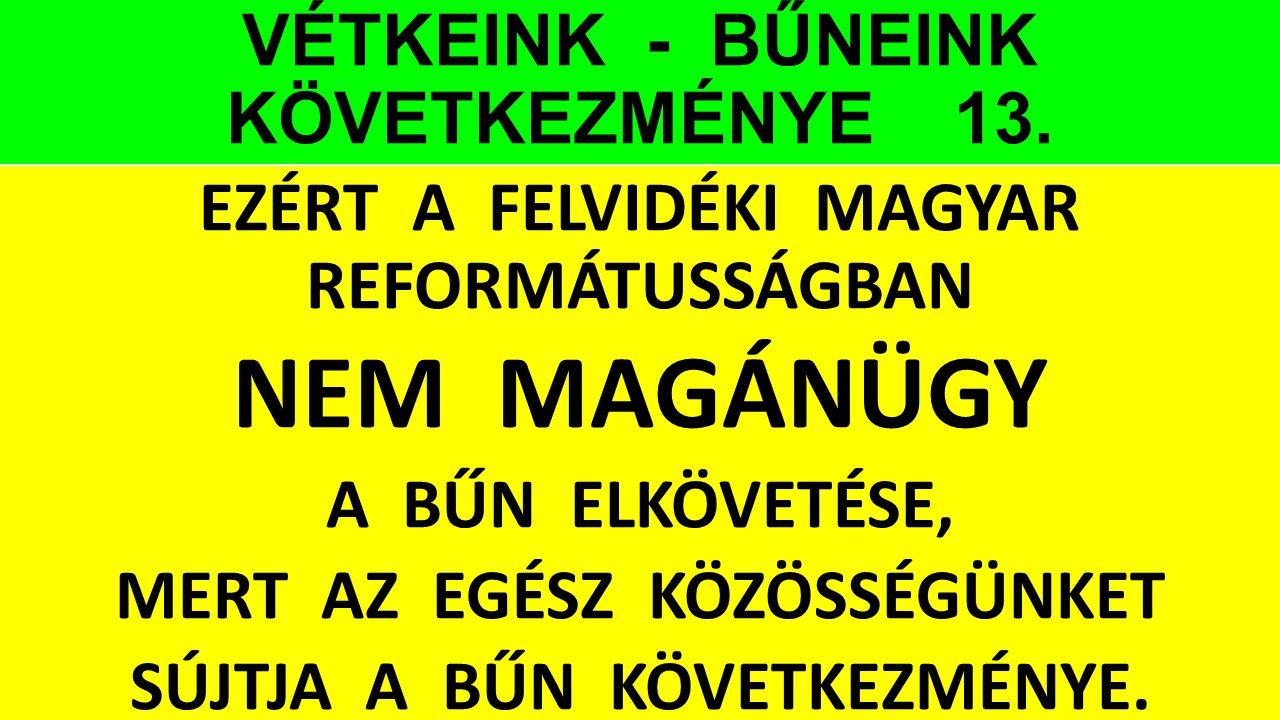 VÉTKEINK - BŰNEINK KÖVETKEZMÉNYE 13.