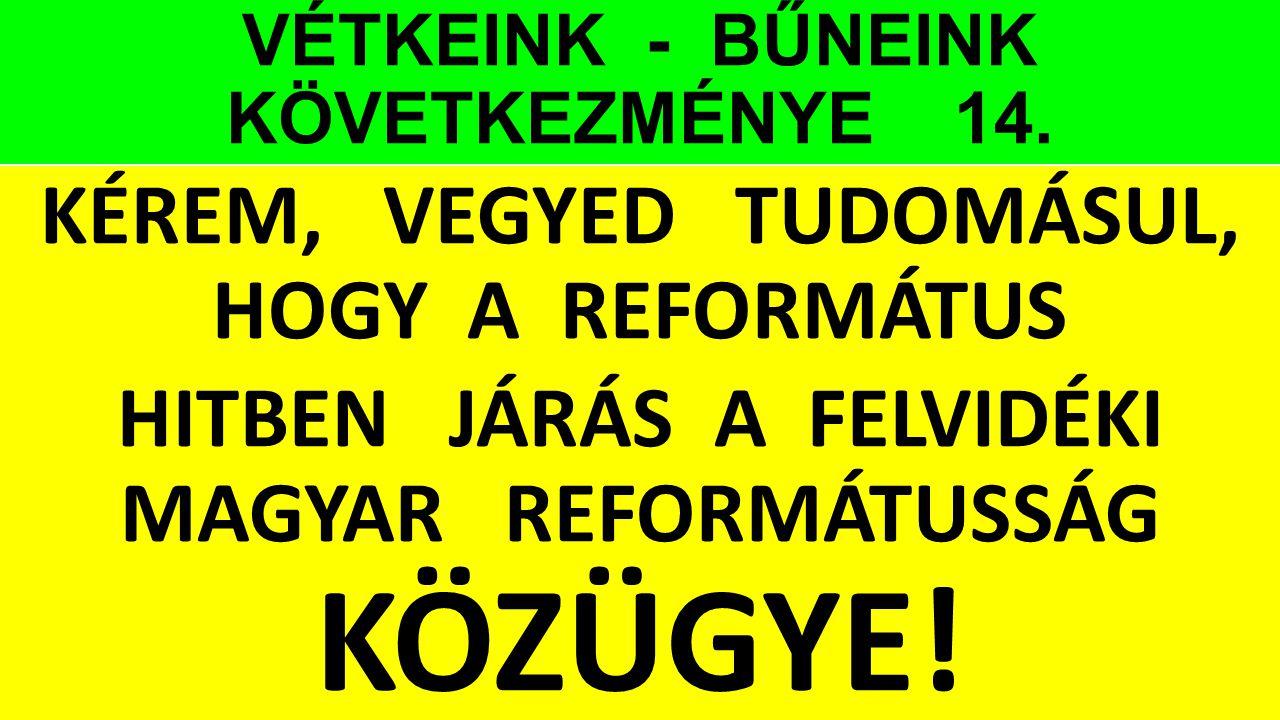 VÉTKEINK - BŰNEINK KÖVETKEZMÉNYE 14.