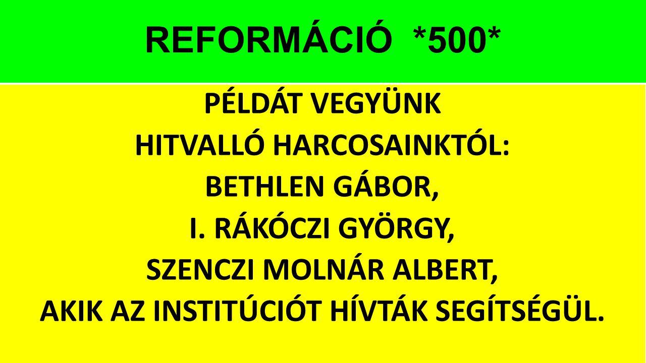 REFORMÁCIÓ *500*