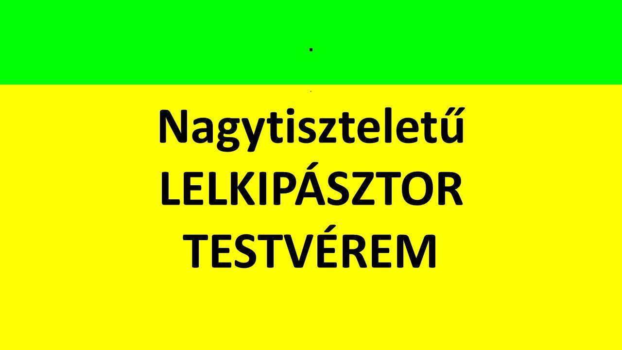 Nagytiszteletű LELKIPÁSZTOR TESTVÉREM