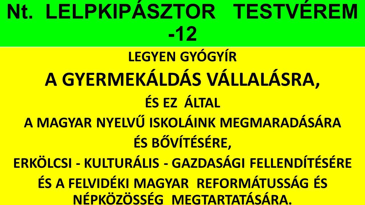 Nt. LELPKIPÁSZTOR TESTVÉREM -12