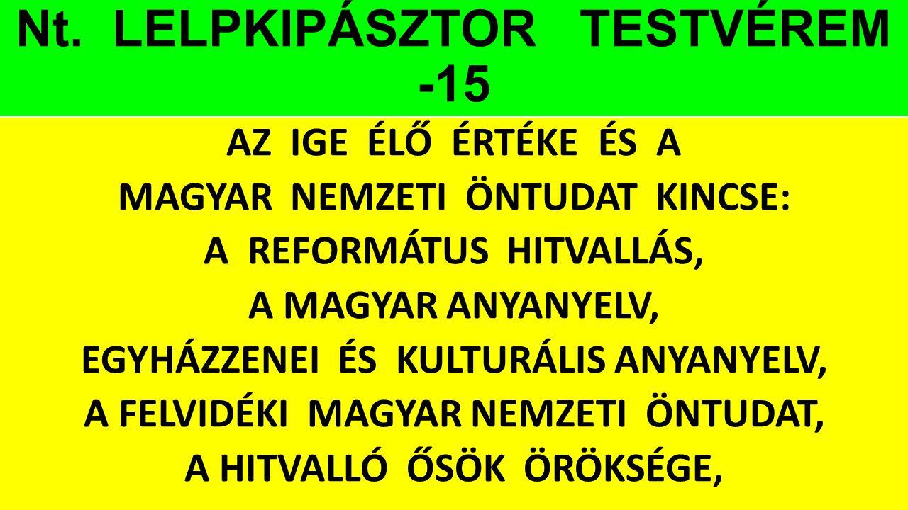 Nt. LELPKIPÁSZTOR TESTVÉREM -15