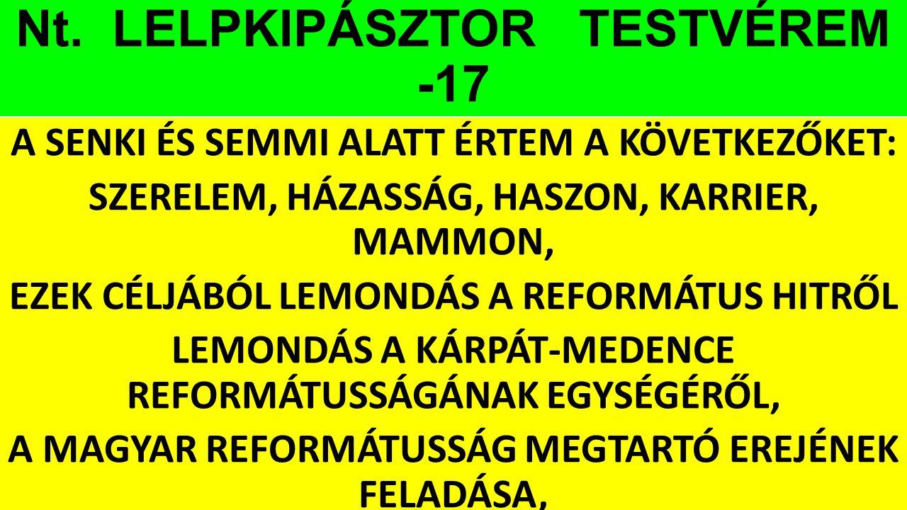 Nt. LELPKIPÁSZTOR TESTVÉREM -17