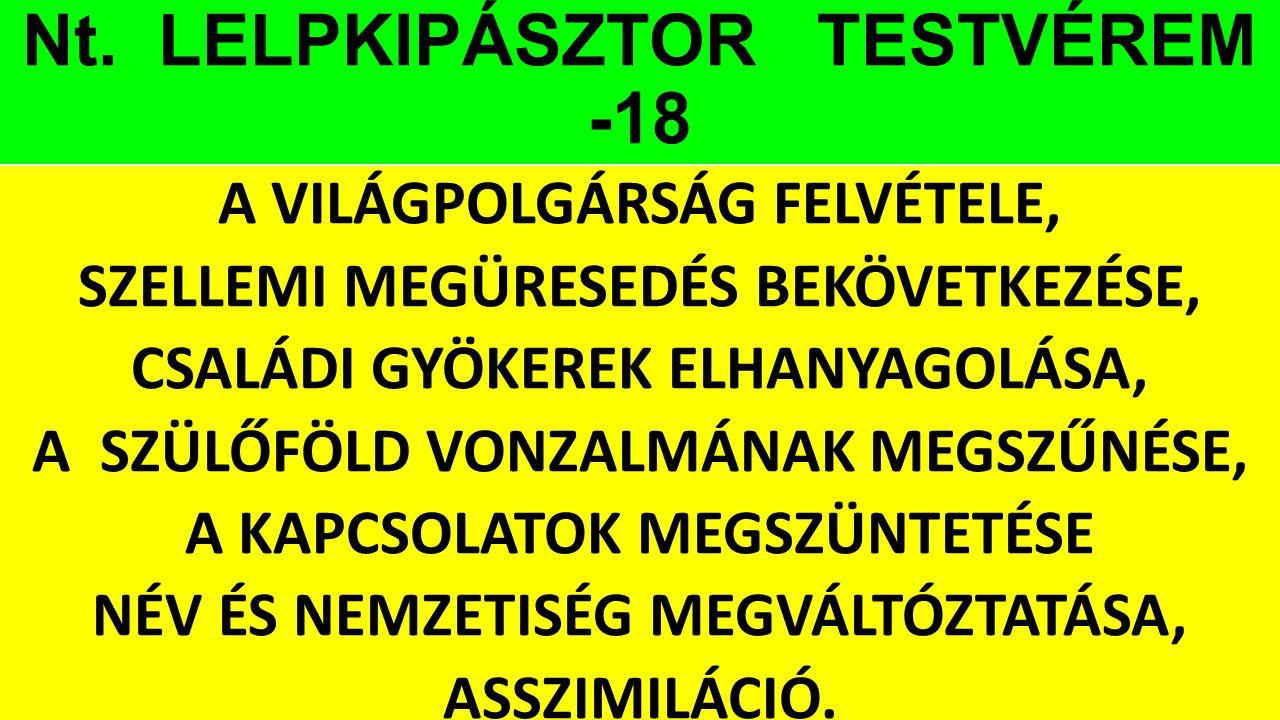 Nt. LELPKIPÁSZTOR TESTVÉREM -18