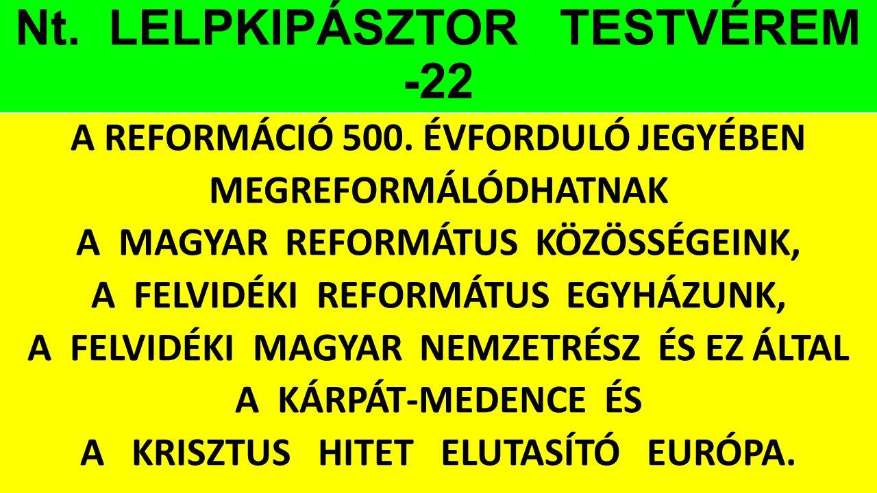 Nt. LELPKIPÁSZTOR TESTVÉREM -22