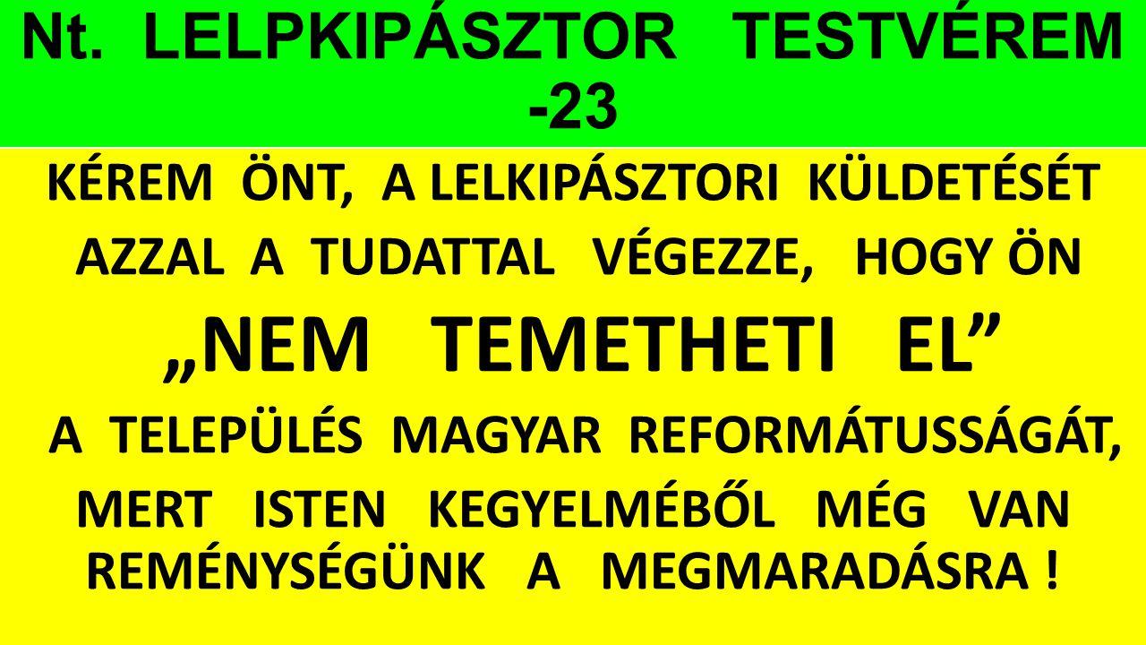 Nt. LELPKIPÁSZTOR TESTVÉREM -23