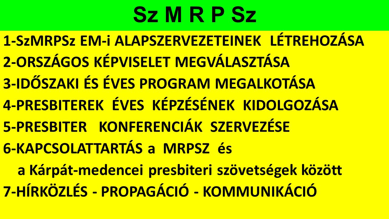 Sz M R P Sz