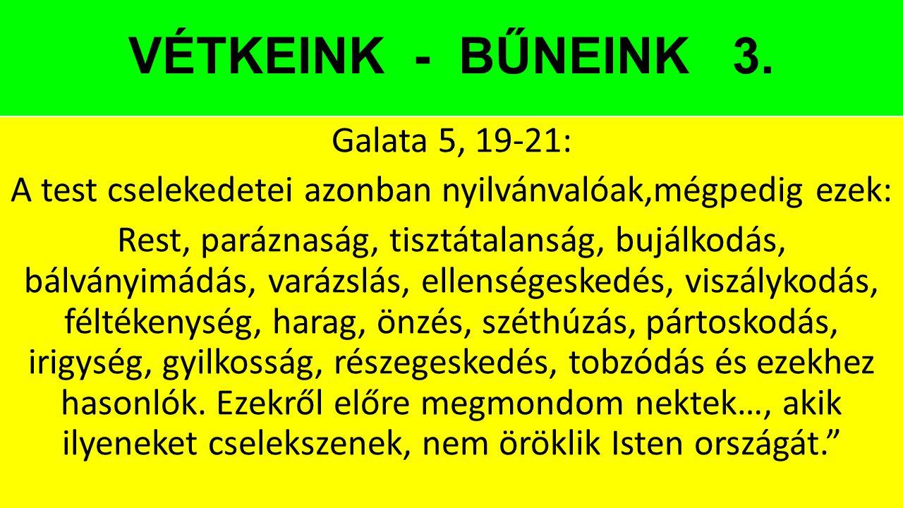 VÉTKEINK - BŰNEINK 3.