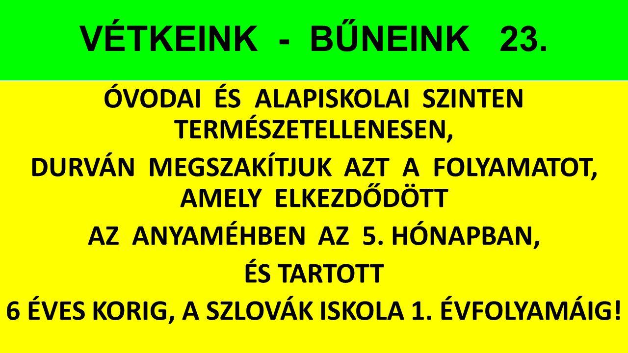 VÉTKEINK - BŰNEINK 23.