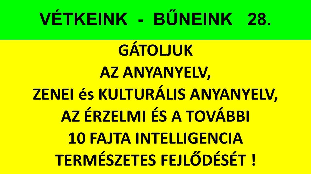 VÉTKEINK - BŰNEINK 28.