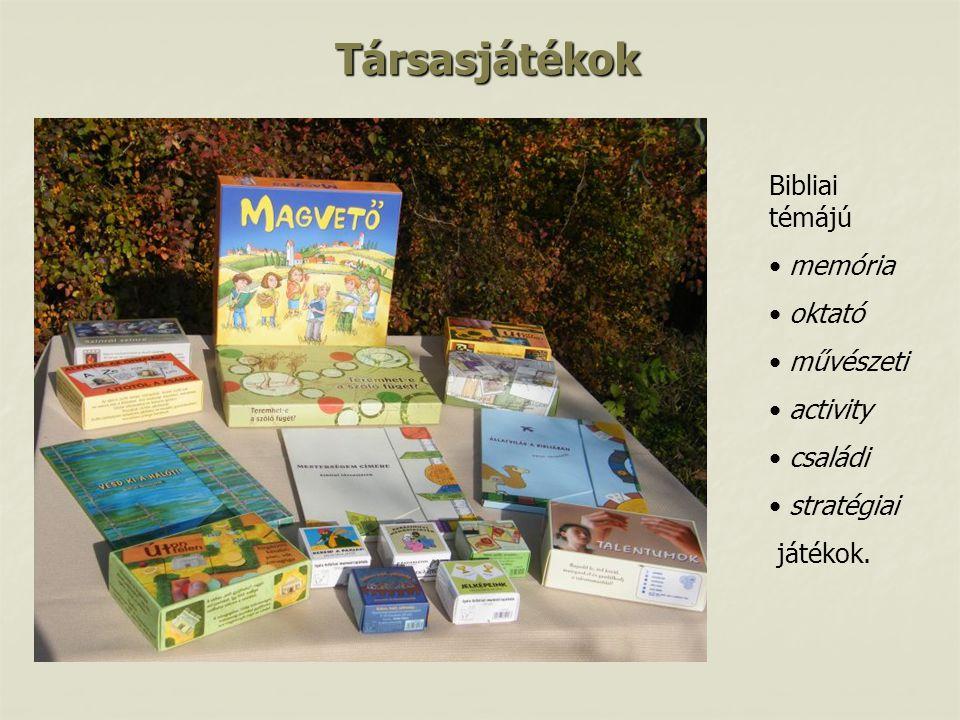 Társasjátékok Bibliai témájú memória oktató művészeti activity családi