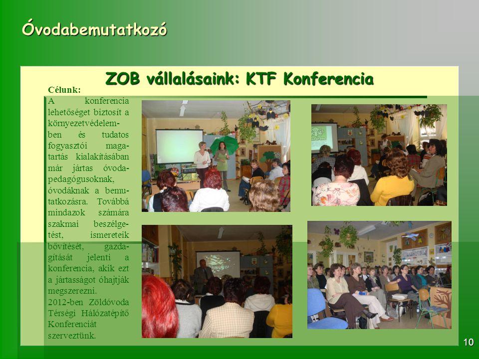 ZOB vállalásaink: KTF Konferencia