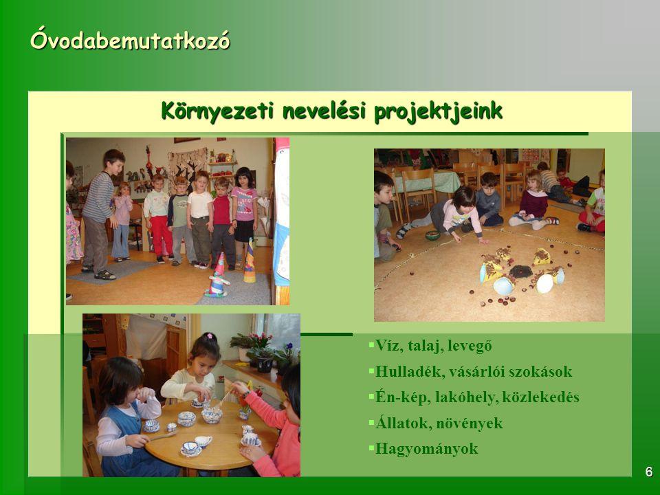 Környezeti nevelési projektjeink