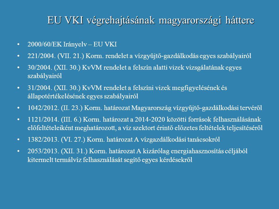 EU VKI végrehajtásának magyarországi háttere