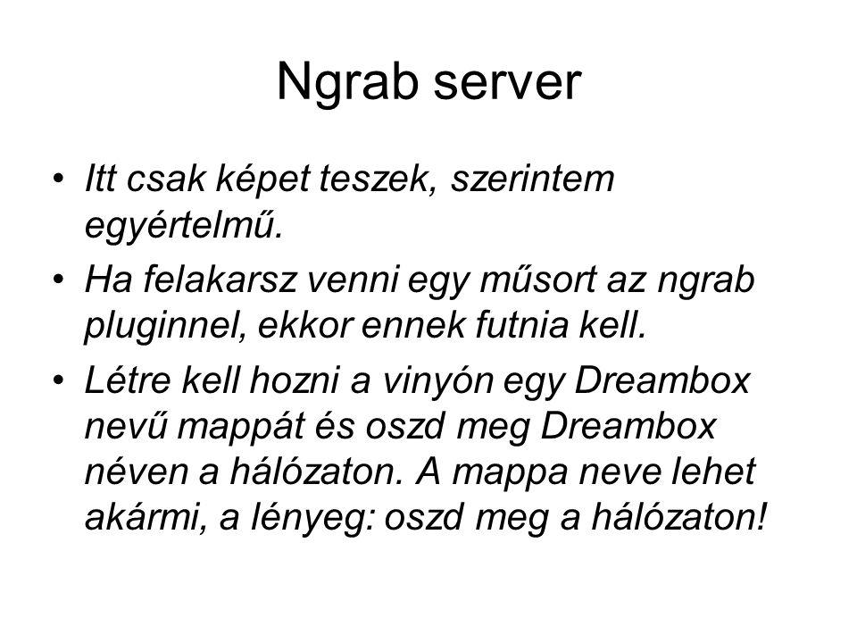 Ngrab server Itt csak képet teszek, szerintem egyértelmű.