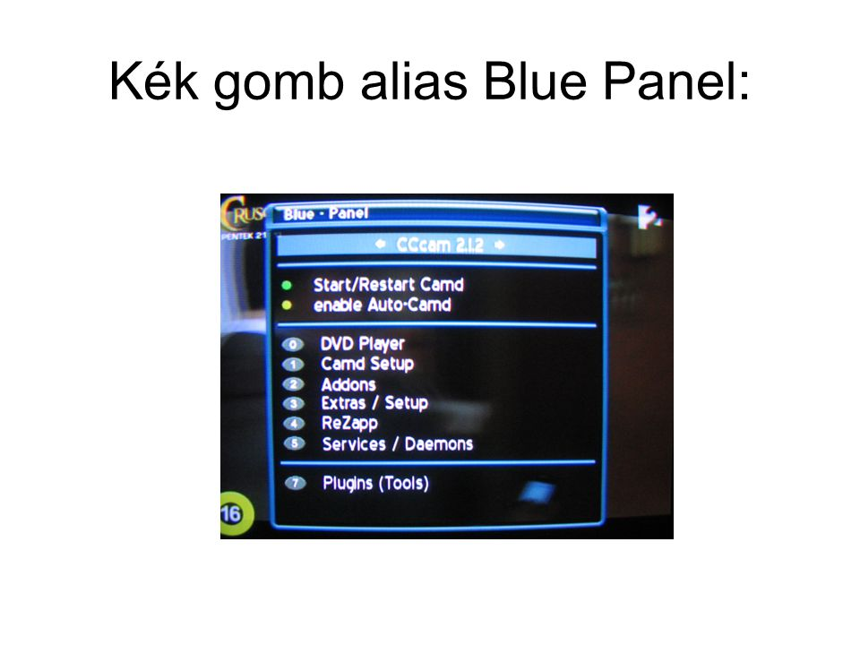 Kék gomb alias Blue Panel:
