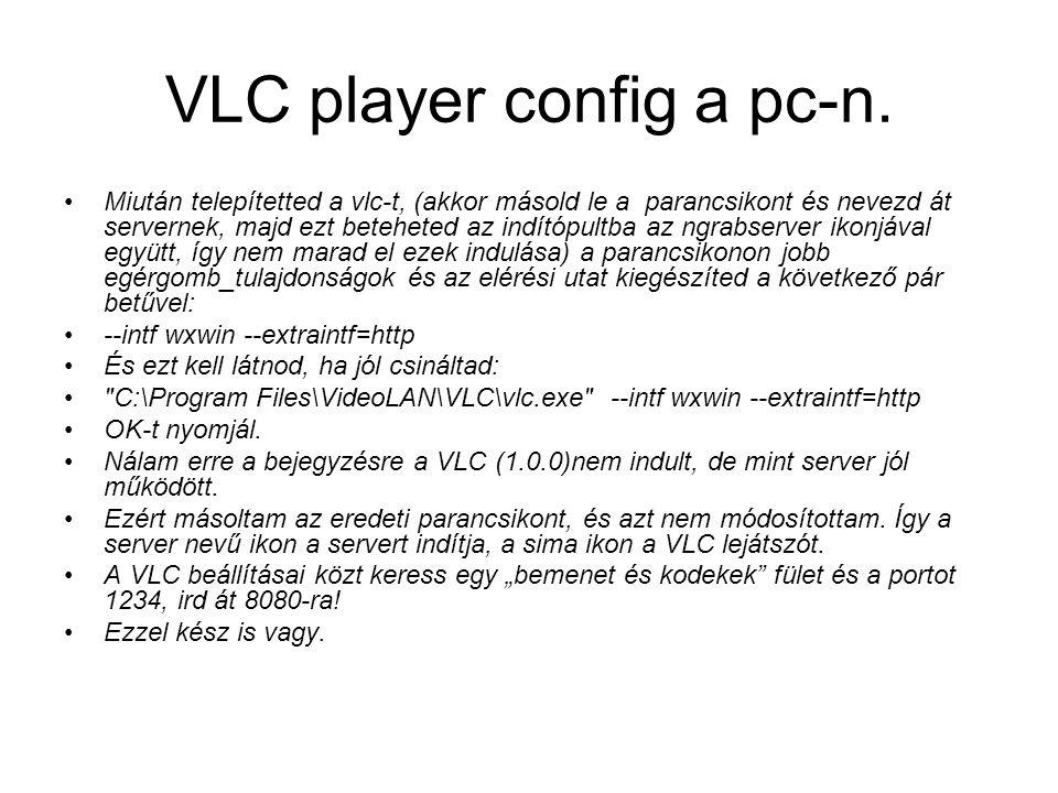 VLC player config a pc-n.
