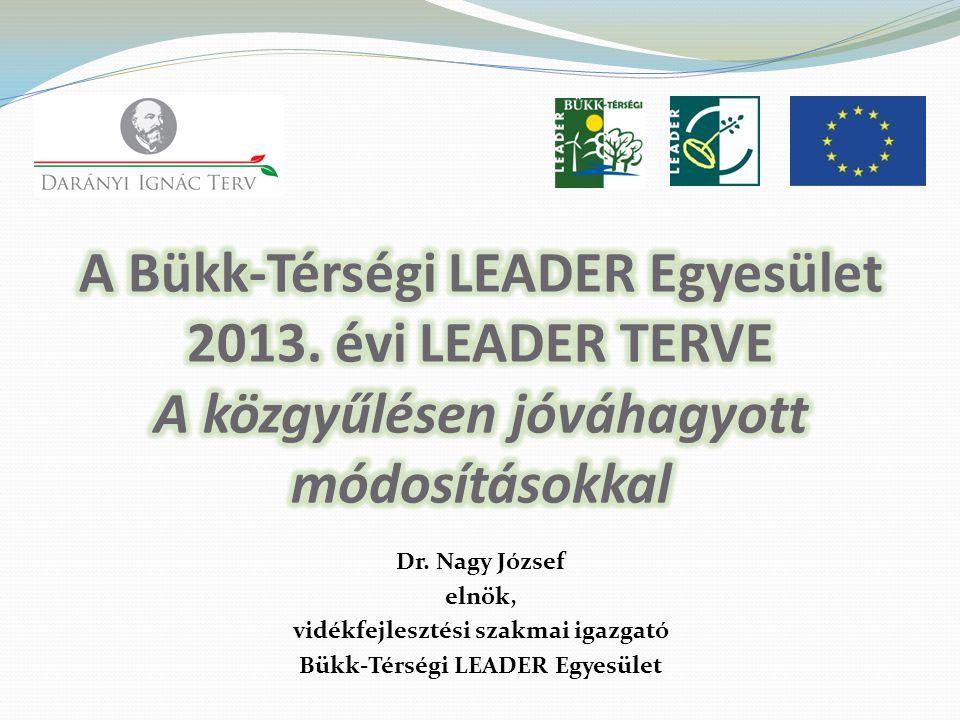 vidékfejlesztési szakmai igazgató Bükk-Térségi LEADER Egyesület