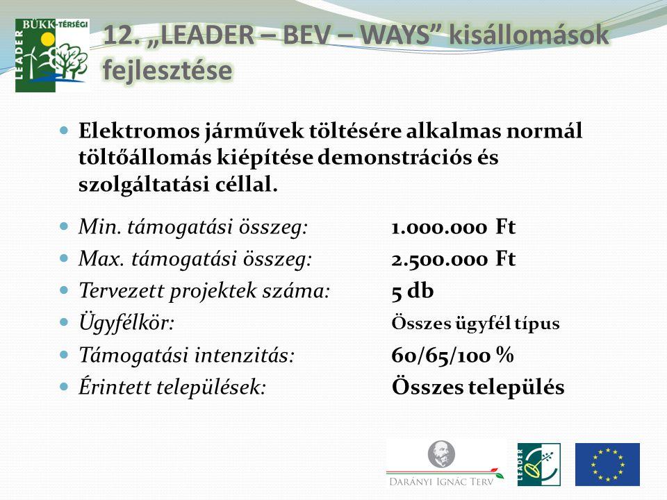 """12. """"LEADER – BEV – WAYS kisállomások fejlesztése"""