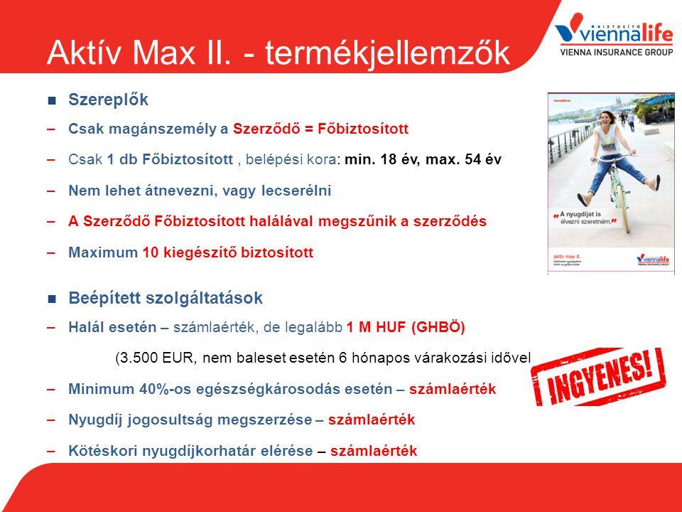 Aktív Max II. - termékjellemzők