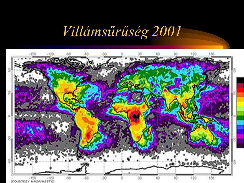 Villámsűrűség 2001