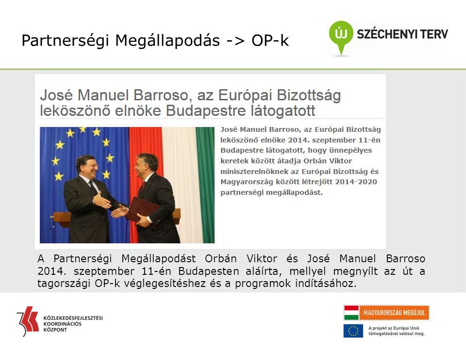Partnerségi Megállapodás -> OP-k