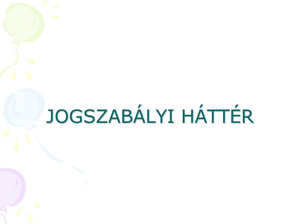 JOGSZABÁLYI HÁTTÉR