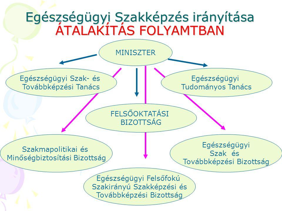 Egészségügyi Szakképzés irányítása ÁTALAKÍTÁS FOLYAMTBAN