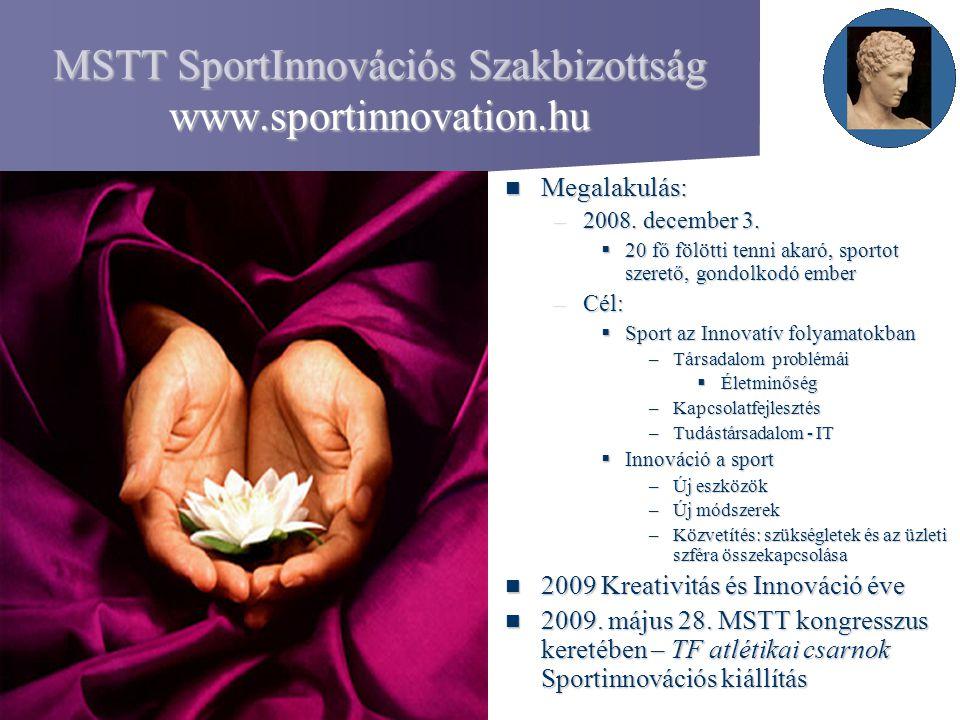 MSTT SportInnovációs Szakbizottság www.sportinnovation.hu