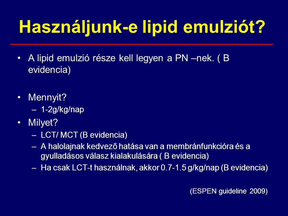 Használjunk-e lipid emulziót