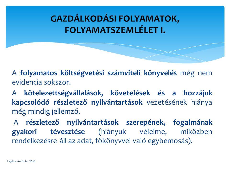 GAZDÁLKODÁSI FOLYAMATOK, FOLYAMATSZEMLÉLET I.