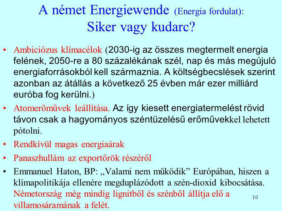 A német Energiewende (Energia fordulat): Siker vagy kudarc