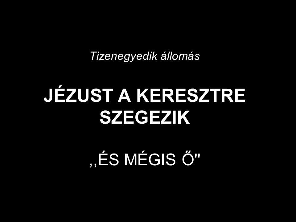 Tizenegyedik állomás JÉZUST A KERESZTRE SZEGEZIK ,,ÉS MÉGIS Ő