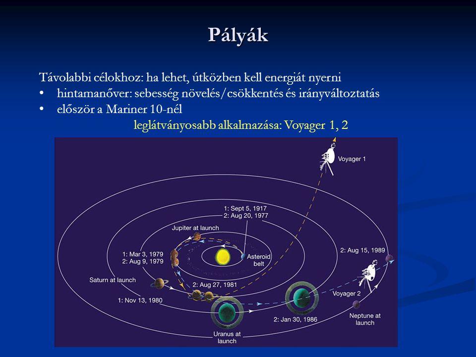 leglátványosabb alkalmazása: Voyager 1, 2