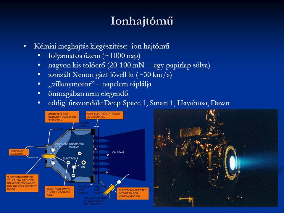 Ionhajtómű Kémiai meghajtás kiegészítése: ion hajtómű