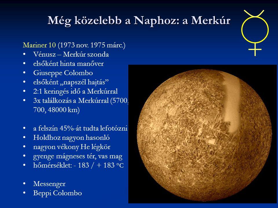 Még közelebb a Naphoz: a Merkúr