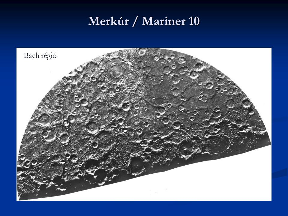 Merkúr / Mariner 10 Bach régió