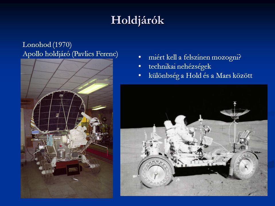 Holdjárók Lonohod (1970) Apollo holdjáró (Pavlics Ferenc)