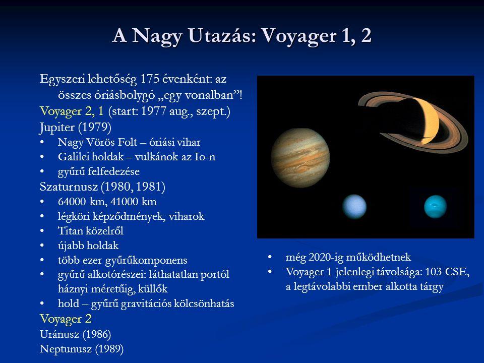 """A Nagy Utazás: Voyager 1, 2 Egyszeri lehetőség 175 évenként: az összes óriásbolygó """"egy vonalban ! Voyager 2, 1 (start: 1977 aug., szept.)"""