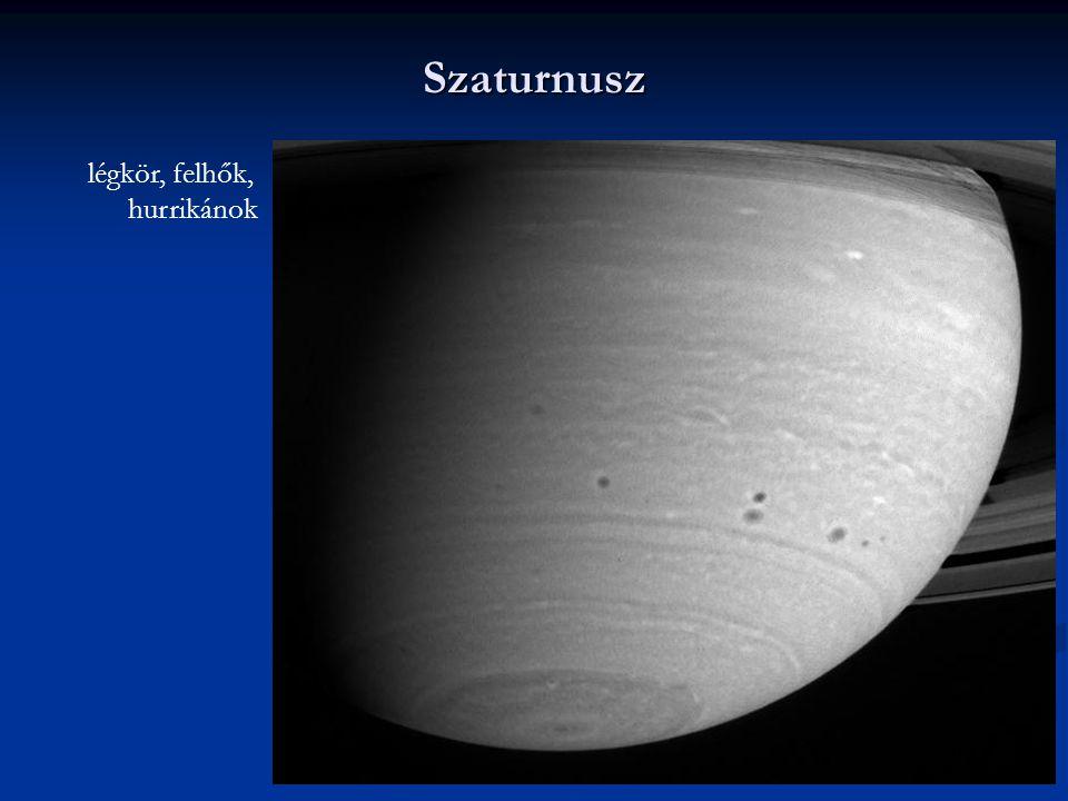 Szaturnusz légkör, felhők, hurrikánok