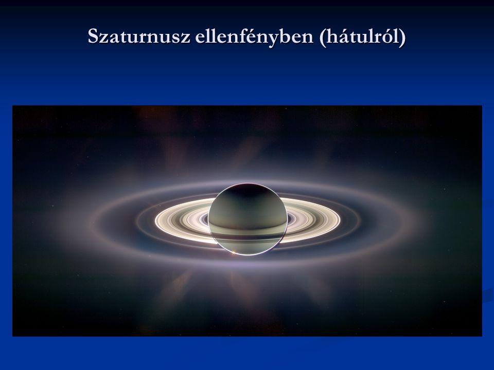 Szaturnusz ellenfényben (hátulról)