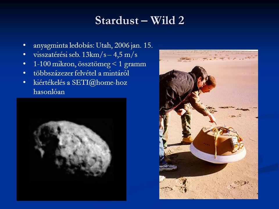 Stardust – Wild 2 anyagminta ledobás: Utah, 2006 jan. 15.