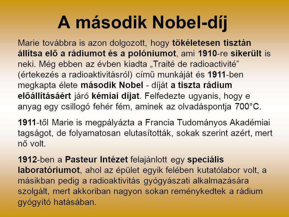 A második Nobel-díj