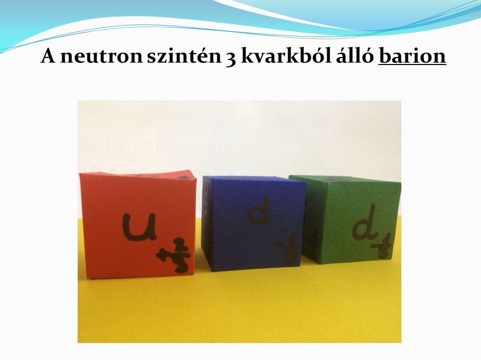 A neutron szintén 3 kvarkból álló barion