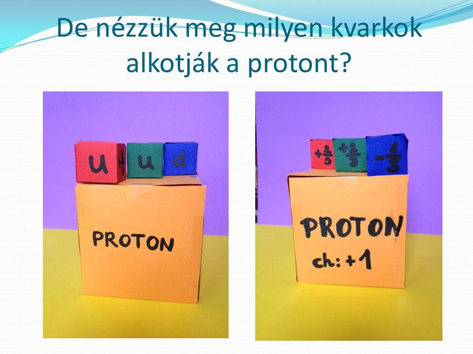 De nézzük meg milyen kvarkok alkotják a protont