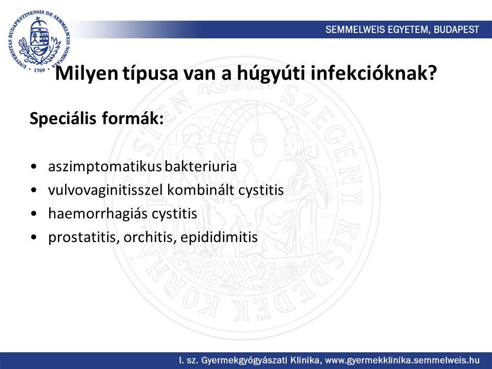 Milyen típusa van a húgyúti infekcióknak