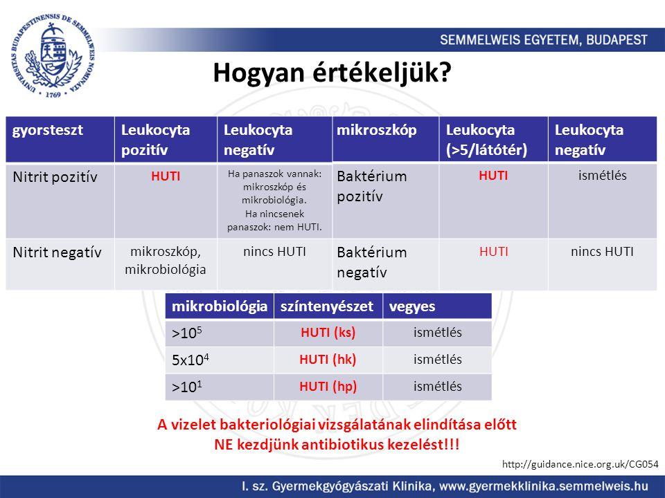 Hogyan értékeljük gyorsteszt Leukocyta pozitív Leukocyta negatív