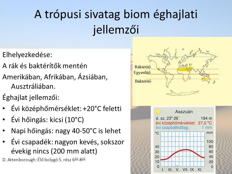 A trópusi sivatag biom éghajlati jellemzői
